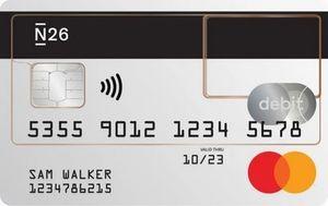N26 Mastercard Debit creditcard